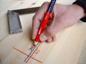 Markierstift rot / blau